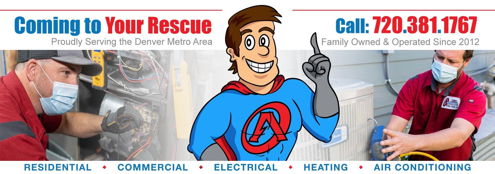 electrical and hvac services banner